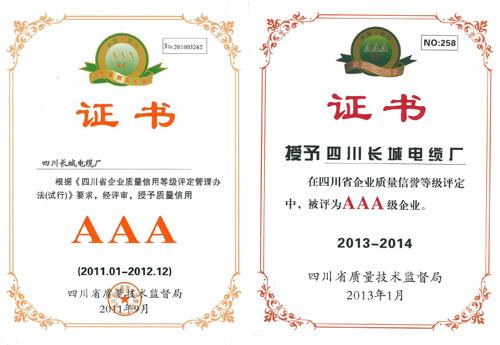 四川省电线、电缆行业质量信誉公约签约单位